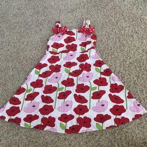 Jessica Ann Girls Sz 7 Red Floral Sun Dress